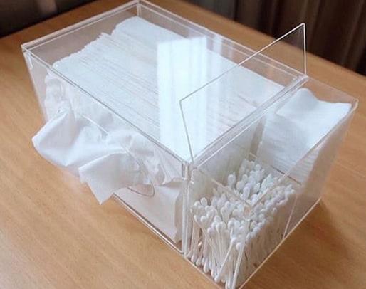 kotak tissue dan kapas